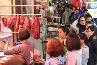 Wuhan kødmarked før corona